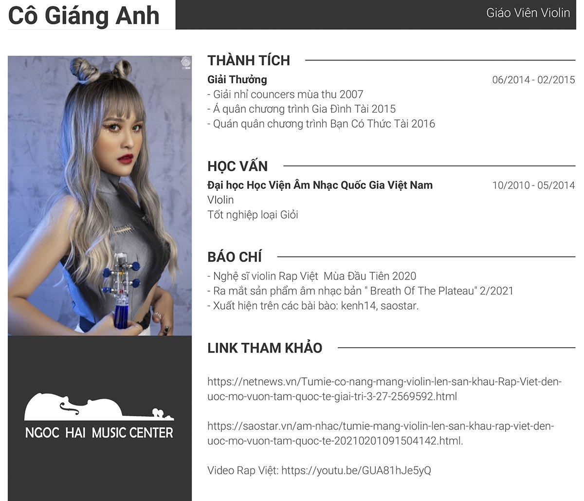 CV Giang Anh violin
