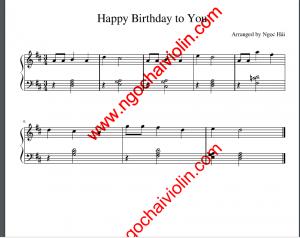 Học Violin với Sheet Happy Birthday